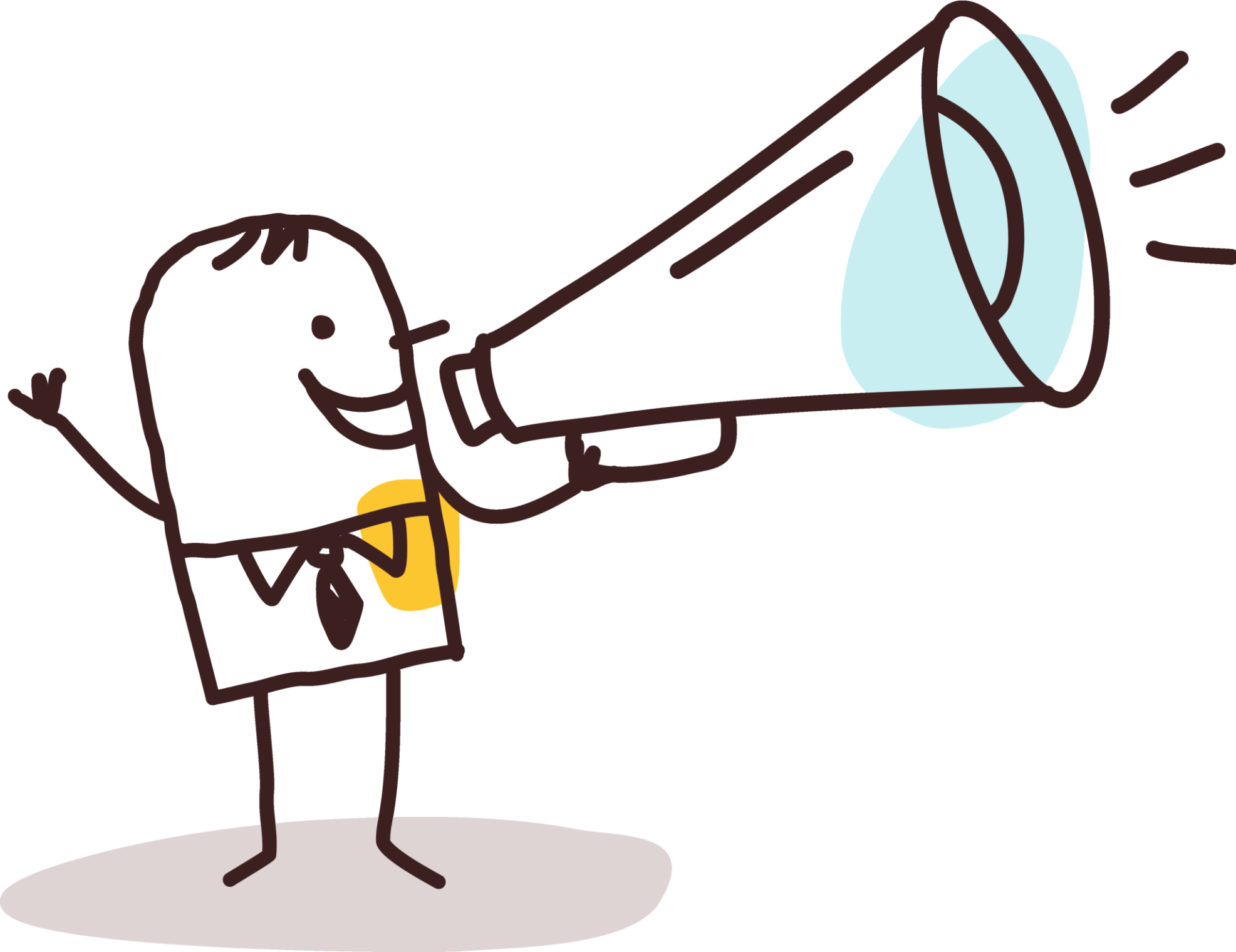 clipart man with megaphone - photo #42