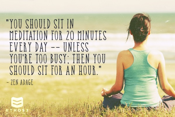 meditate to improve your presentations and your life