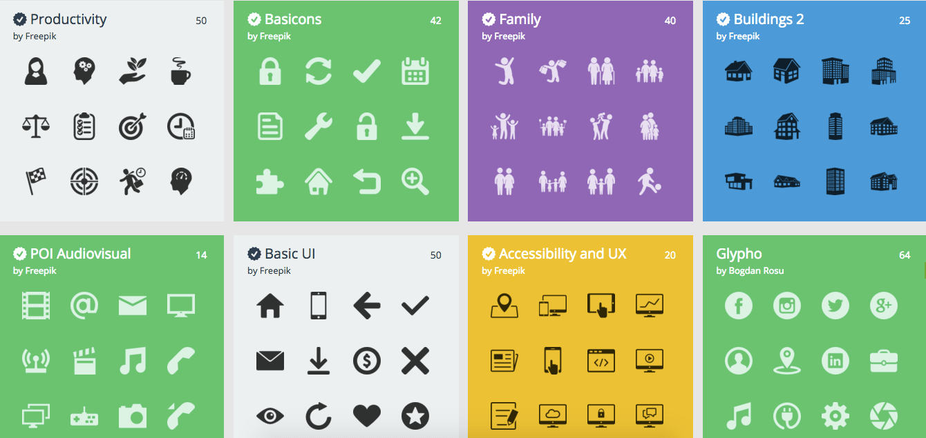 where to find free icons for your presentation designs
