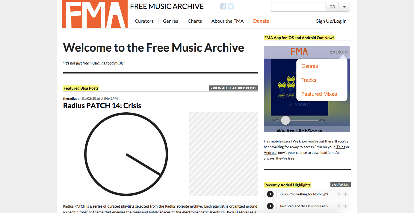 free music archives