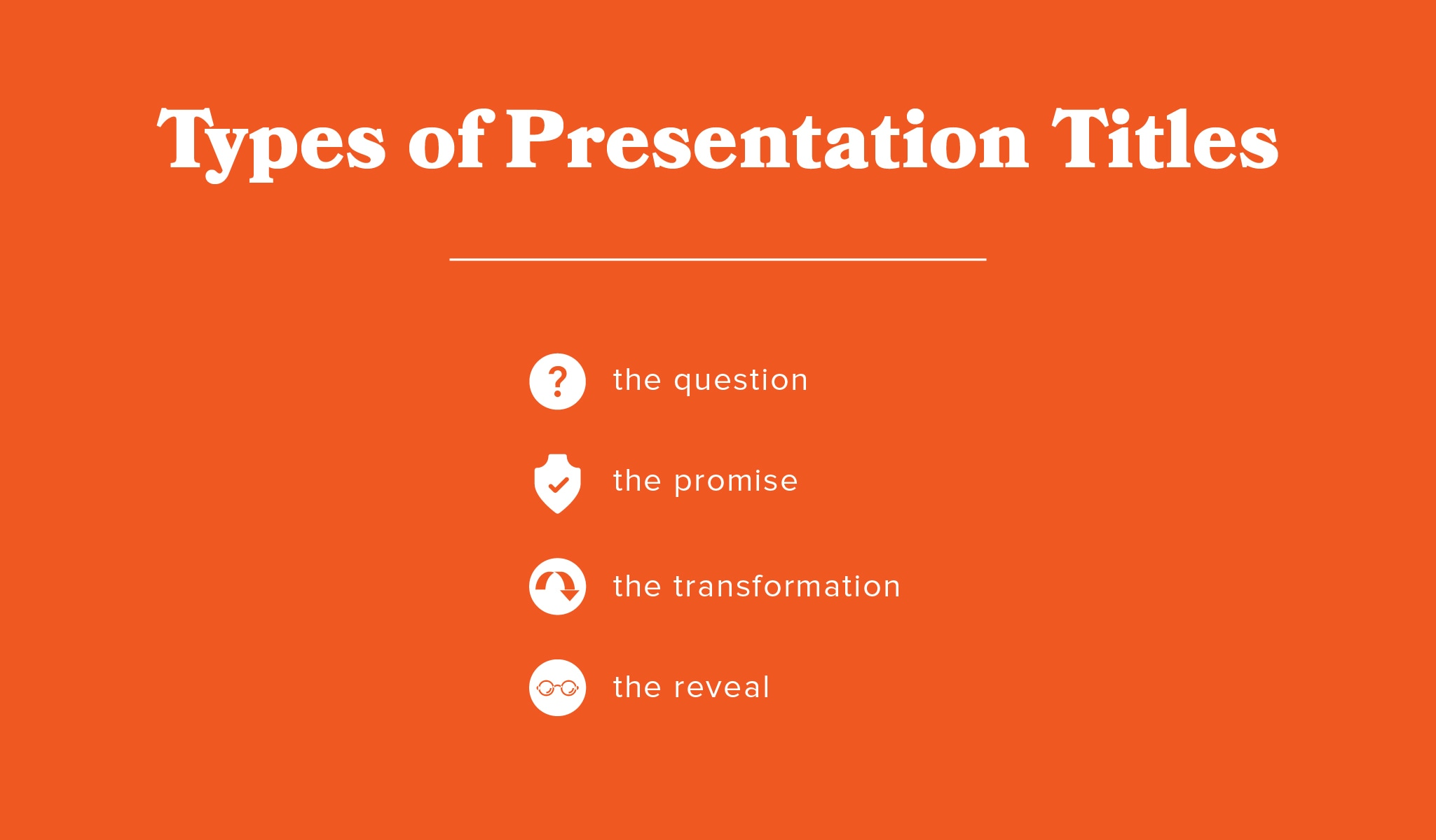 Types of Presentation Titles