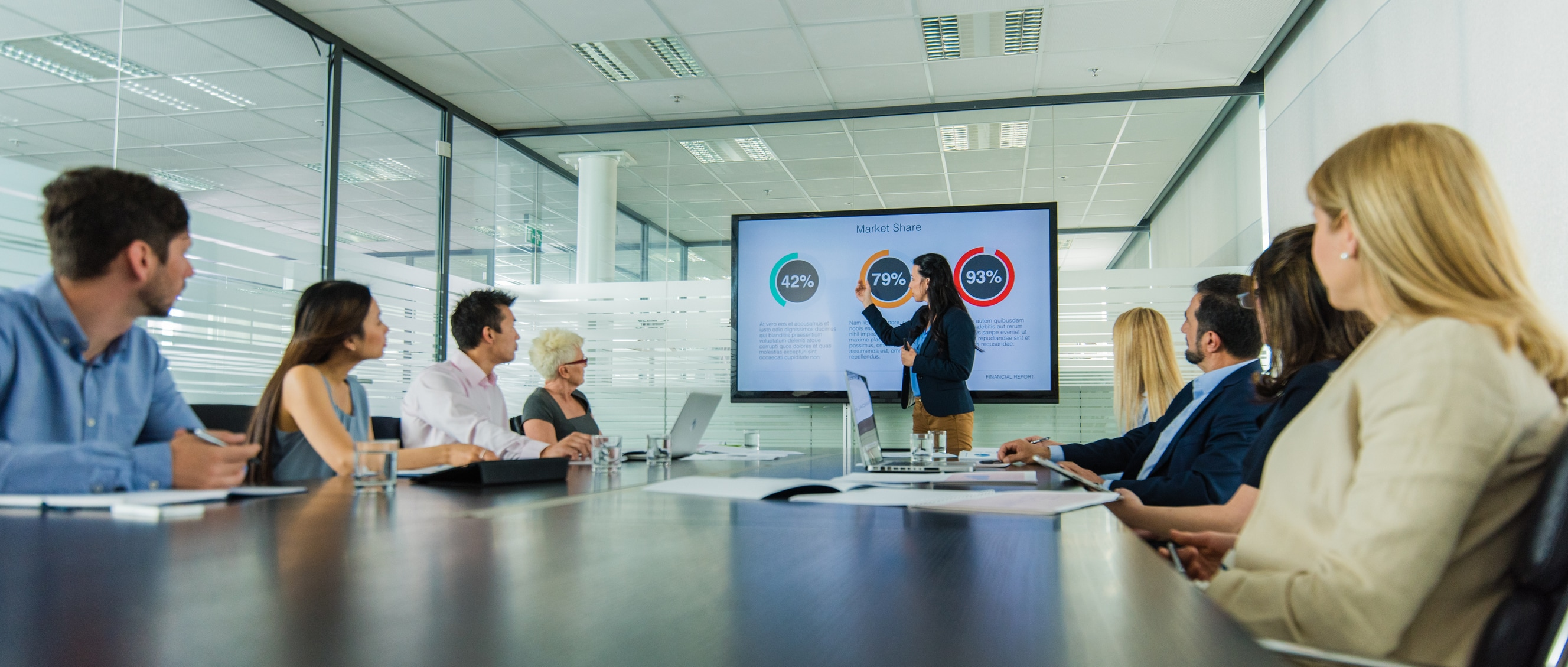 business presentation Business intelligence helps extract crucial facts from a vast amount of  unstructured data and transform them into actionable information that.