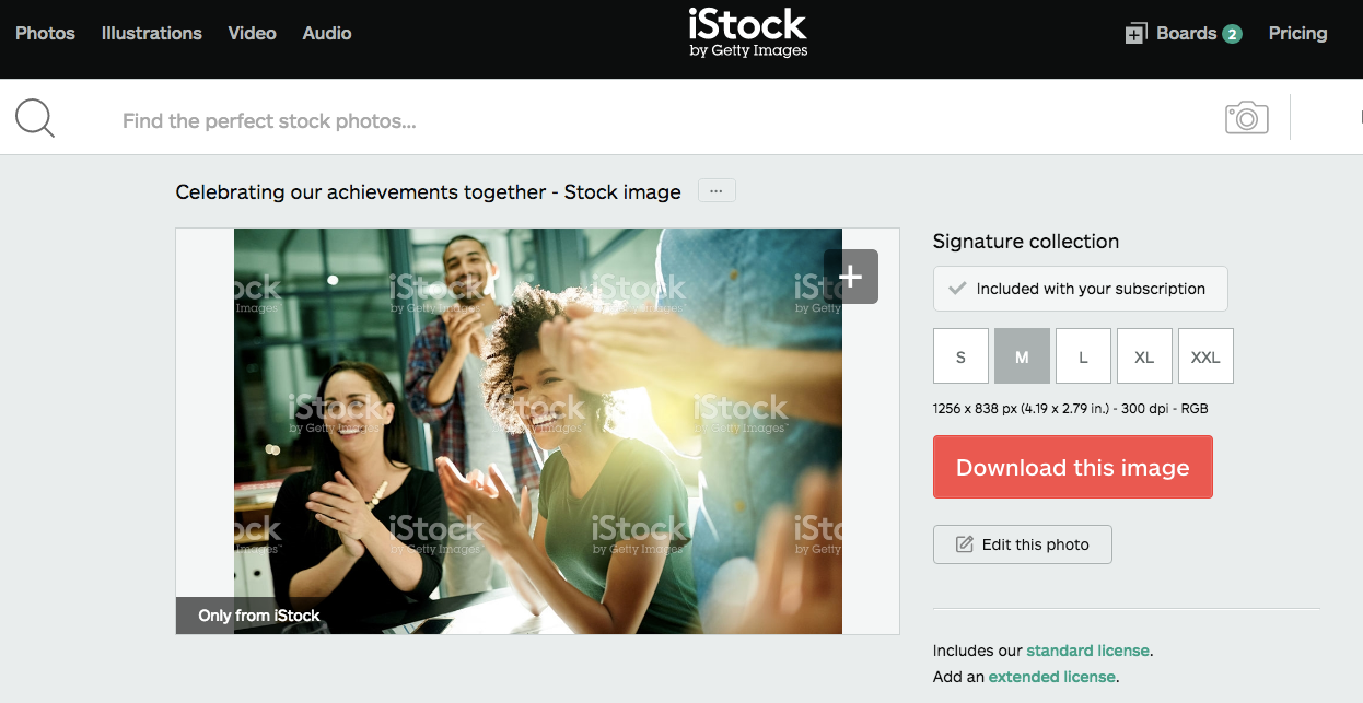 iStock image for tutorial